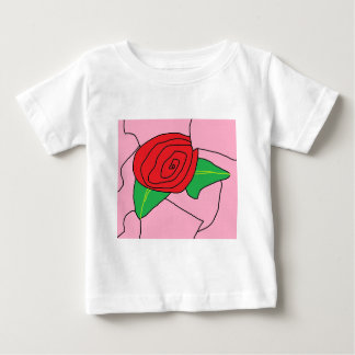 Stained Glass Rose (Copyright) Baby T-Shirt