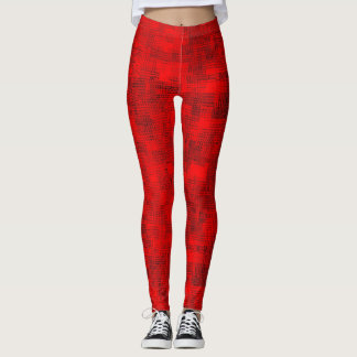 Stained-Glass Scarlet Leggings