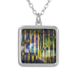 Stained Glass Silver Plated Necklace