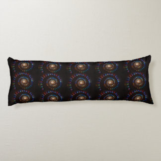 Stained Glass Spiral Body Pillow