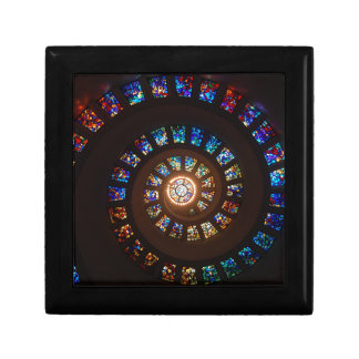 Stained Glass Spiral Gift Box