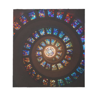 Stained Glass Spiral Notepad