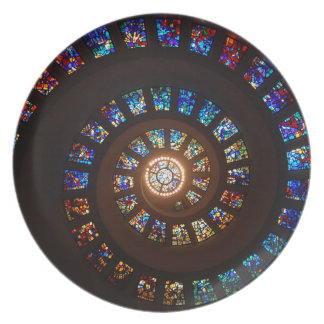 Stained Glass Spiral Plate