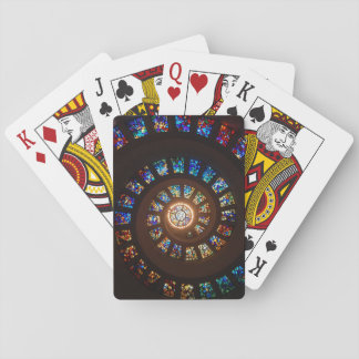 Stained Glass Spiral Window Playing Cards