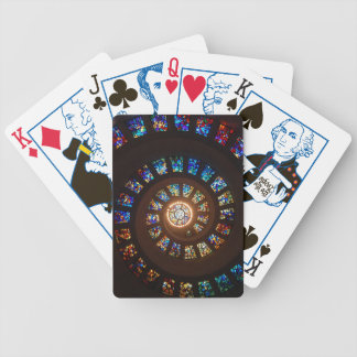 Stained Glass Spiral Window Poker Deck