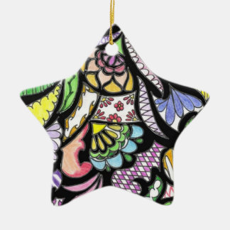 Stained Glass Star Ceramic Star Ornament