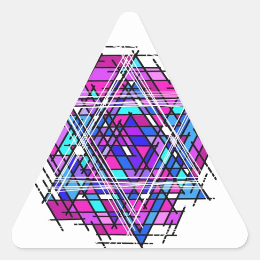 Stained Glass Star of David. Sticker