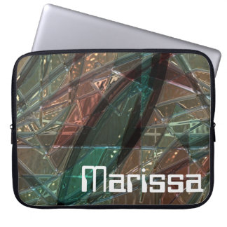 Stained Glass style Metallic PRINT laptop case