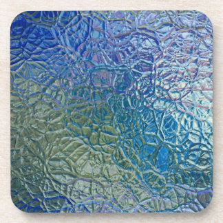 Stained glass, transparent colorful shiny window coaster