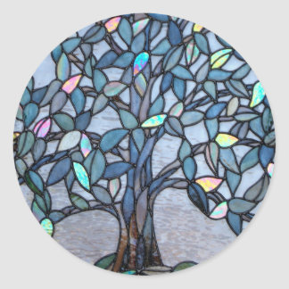 """Stained Glass """"Tree Panel"""" sticker"""