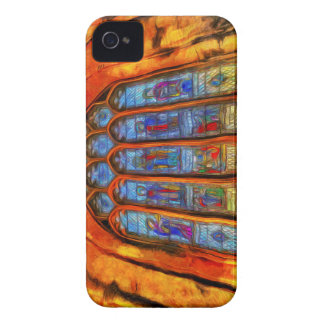 Stained Glass Van Gogh iPhone 4 Case-Mate Cases