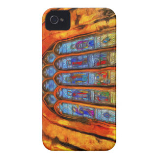 Stained Glass Van Gogh iPhone 4 Cases