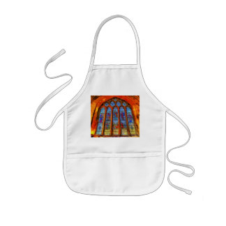 Stained Glass Van Gogh Kids Apron