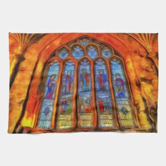 Stained Glass Van Gogh Kitchen Towel