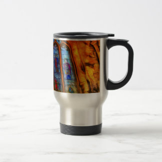 Stained Glass Van Gogh Travel Mug