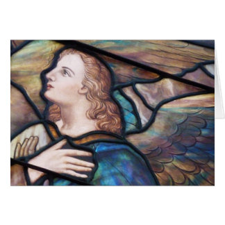 Stained Glass Window Angel Greeting Card