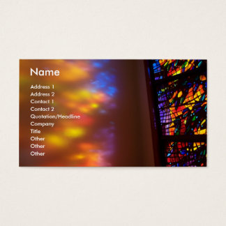 Stained Glass Window Church Business Card Art