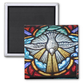 Stained Glass Window Dove Magnet