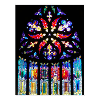 Stained Glass Window in Scotland Postcard