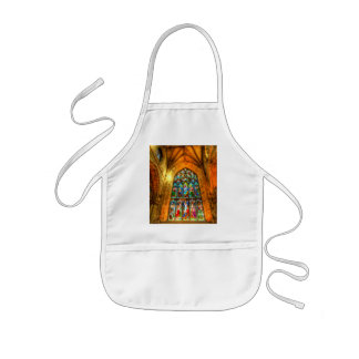 Stained Glass Window Kids Apron