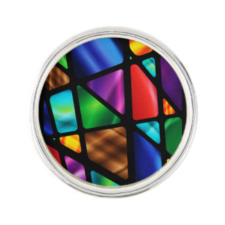 Stained Glass Window Lapel Pin