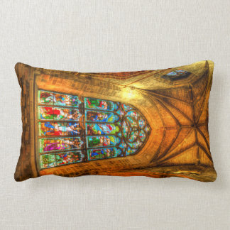 Stained Glass Window Lumbar Pillow