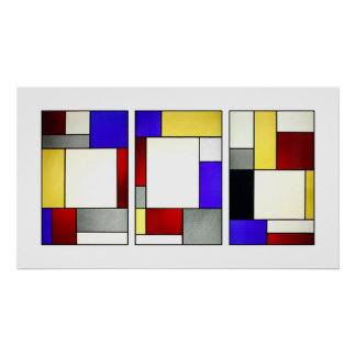 Stained Glass Window Tryptych Theo Van Doesburg Poster