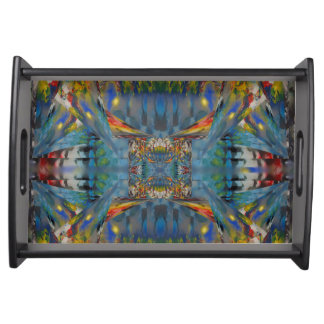Stained Glass Windows Abstract Serving Tray