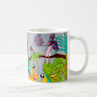 Stained Glass With Birds Coffee Mug