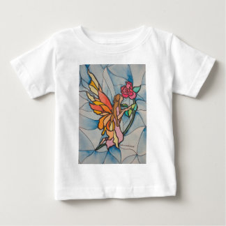 Stained glasssrose fairy baby T-Shirt