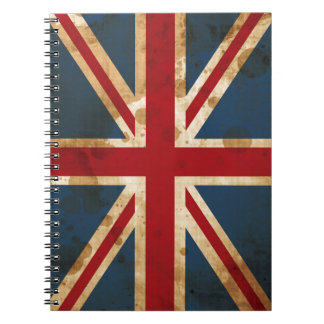 Stained Grunge Union Jack UK Flag Notebooks