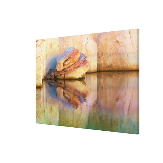 Stained Sandstone Wall | Glen Canyon, UT Canvas Print
