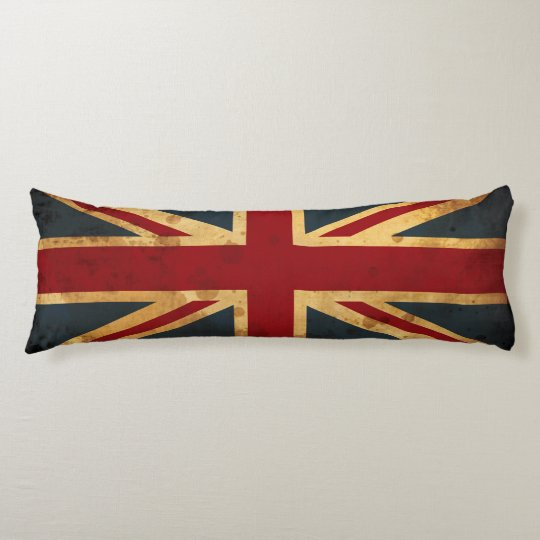 Stained Union Jack UK Flag Body Pillow