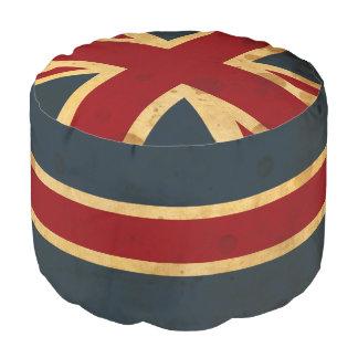 Stained Union Jack UK Flag Pouf