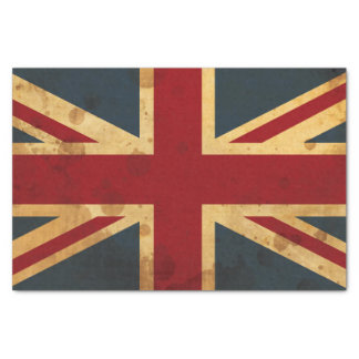 Stained Union Jack UK Flag Tissue Paper
