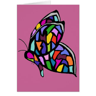 stainglass butterfly card