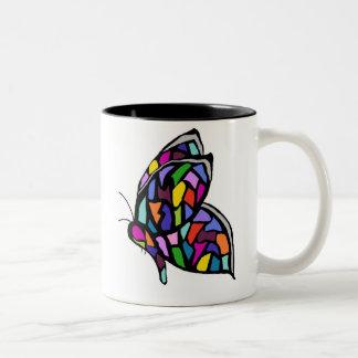 stainglass butterfly mug