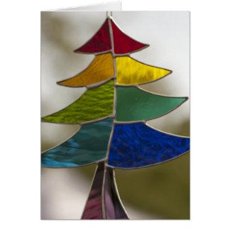 Stainglass tree card