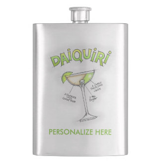 STAINLESS FLASK - DAIQUIRI RECIPE COCKTAIL ART