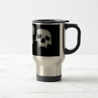 Stainless Steel 15 oz Travel/Commuter Mug W/ SKULL
