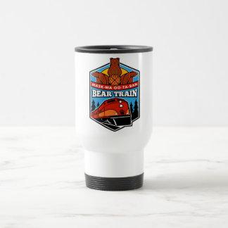 Stainless Steel Bear Train Travel mug 15oz