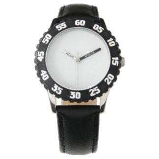 Stainless Steel Black Watch, Adjustable Bezel Watch