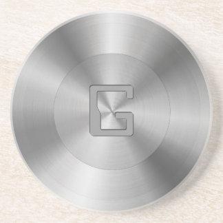 Stainless Steel Custom Monogram Coaster