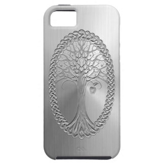 Stainless Steel Effect Celtic Tree Graphic iPhone 5 Cover