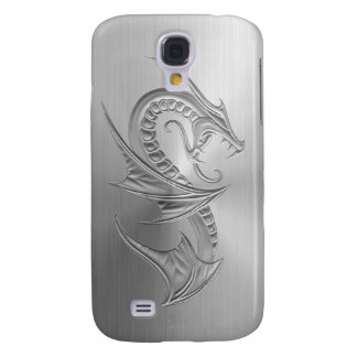 Stainless Steel Effect Dragon Graphic