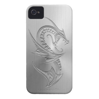 Stainless Steel Effect Dragon Graphic iPhone 4 Case