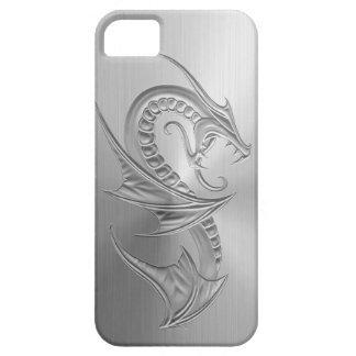 Stainless Steel Effect Dragon Graphic iPhone 5 Cases