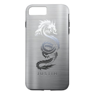 Stainless Steel Effect Dragon iPhone 7 Plus Case