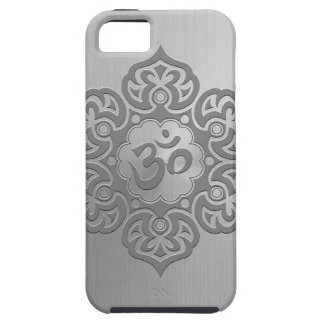 Stainless Steel Effect Floral Aum Graphic iPhone 5 Cases