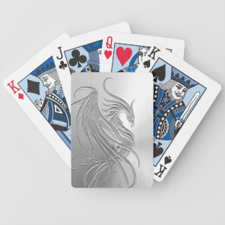 Stainless Steel Effect Phoenix Bicycle Playing Cards